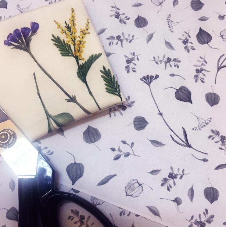 許許兒獨家開發手繪印花布