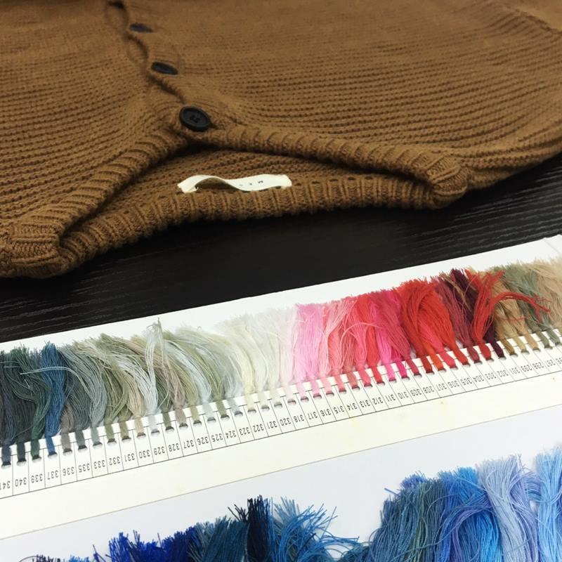 挑選新品針織款式的色紗