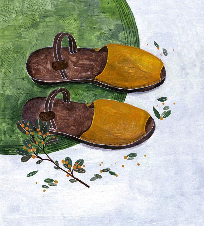 KIDISLAND‧兒童島插畫家也收藏的許許兒咬一口三穿式真皮涼鞋