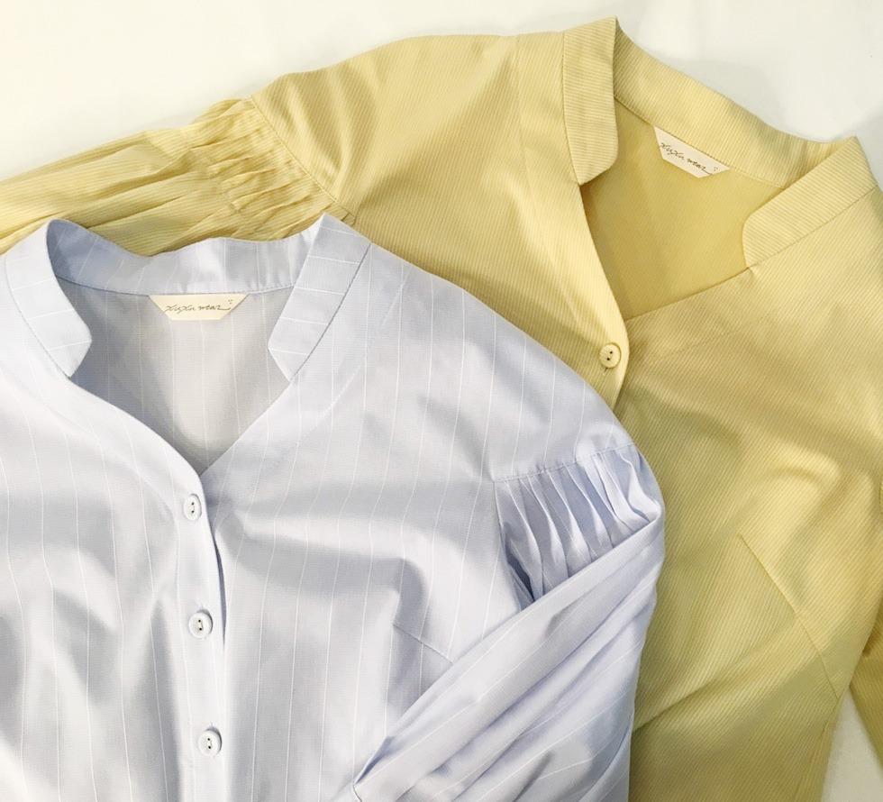 青楓翅果立體折紋襯衫新色實穿照