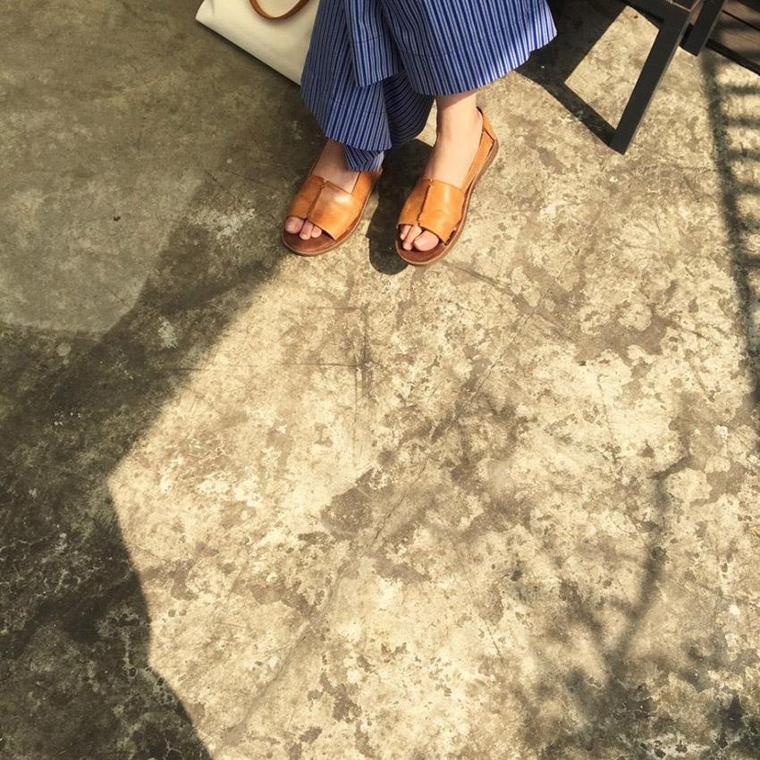 小節休息真皮涼鞋小幫手實穿