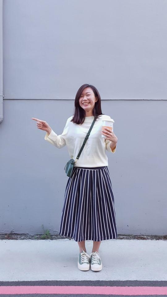 赫本小姐船型領七分袖針織上衣穿搭