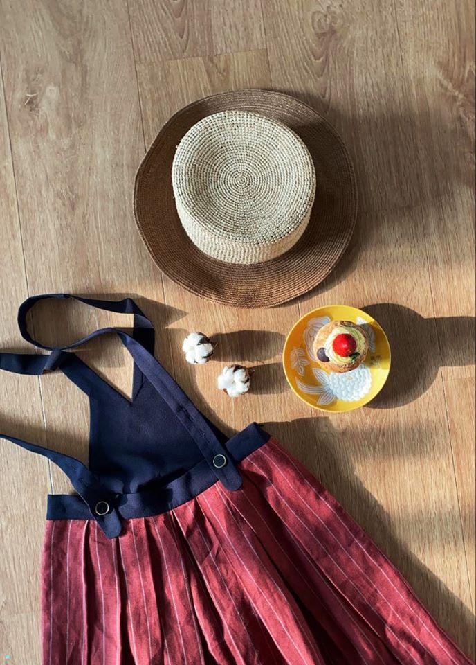 烏克麗麗小曲兩穿吊帶裙-紅薑糖