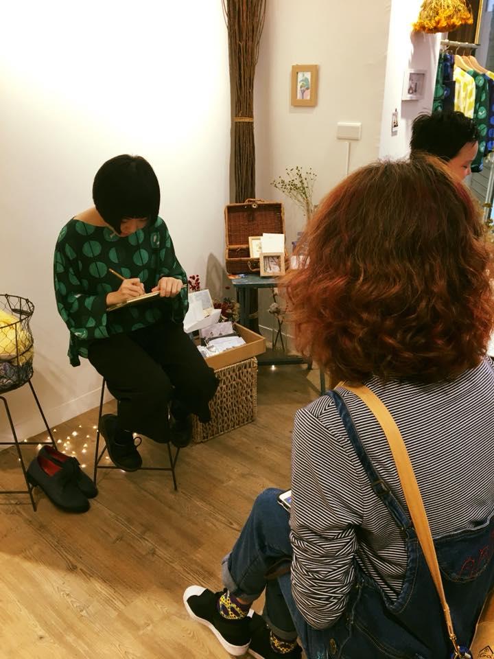插畫家Yukito現場提供似顏繪活動