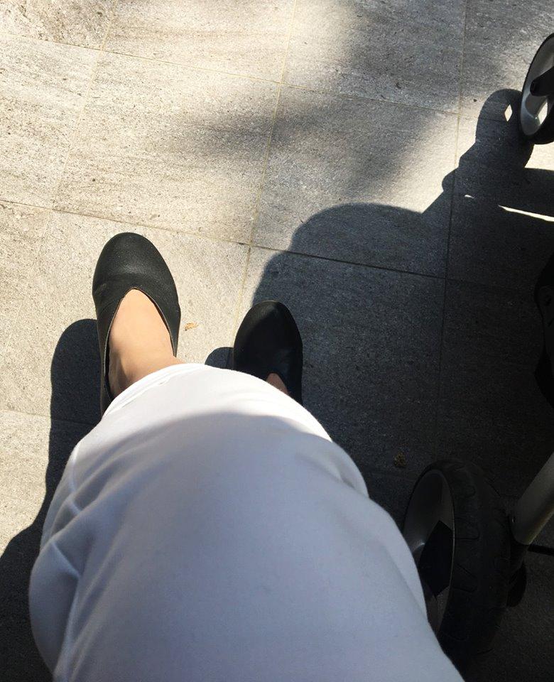美好陽光午後與麵包鞋