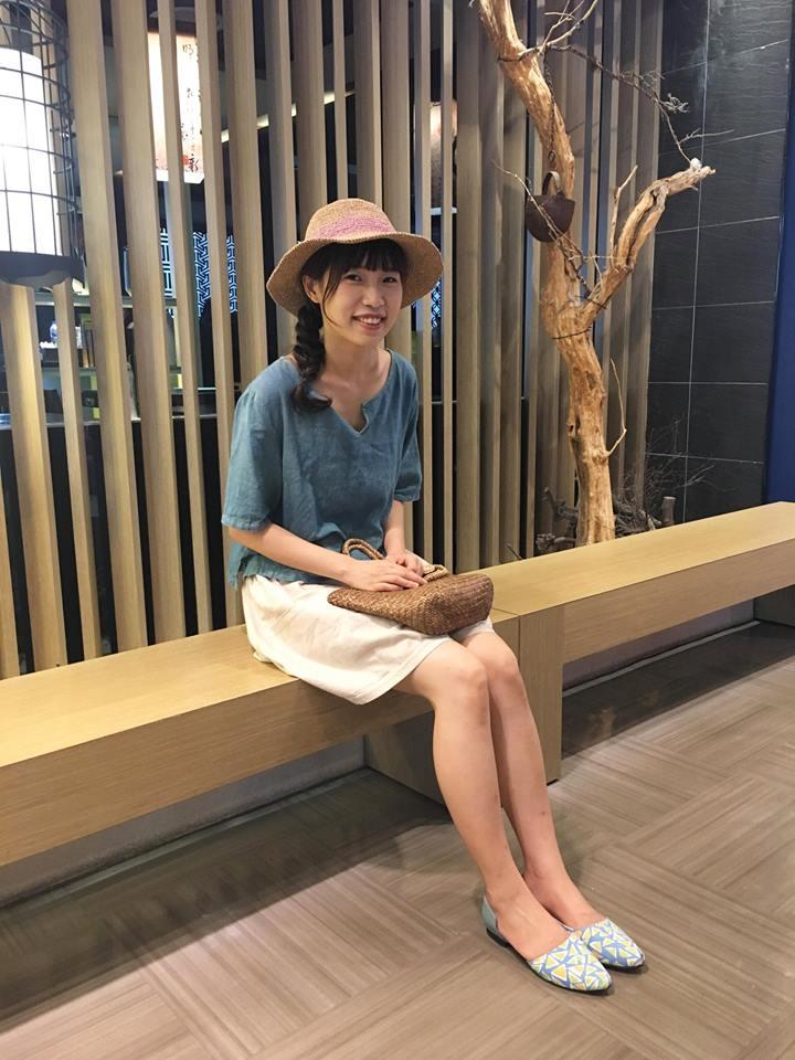 tsuixtsui穿著許許兒xKapuwa三角葉木刻染印花鞋-綠葉