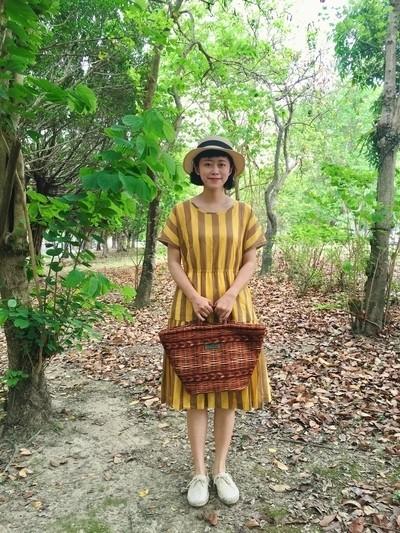 向日葵之夏條紋洋裝